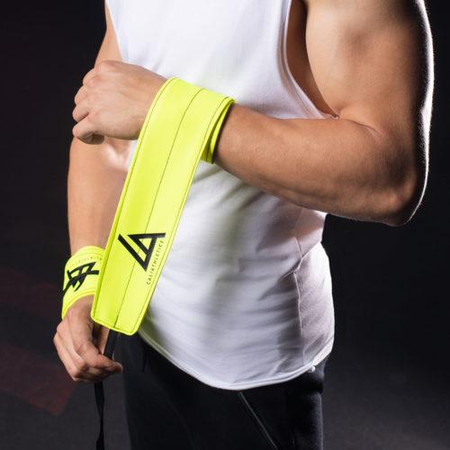 wrist wraps caliathletics yellow
