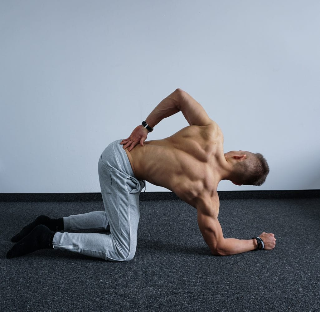 Quadruped Sidebend daily back stretches