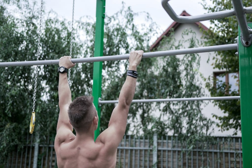 behind the neck pull ups