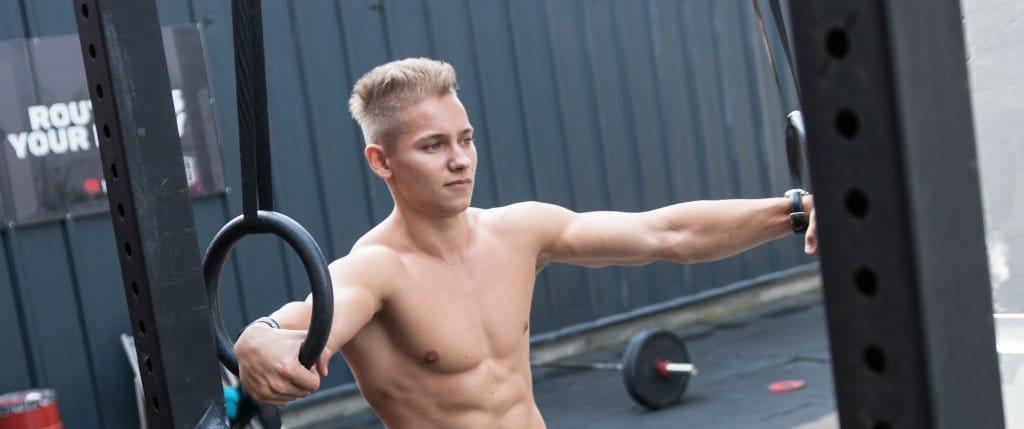 gym rings workout training calisthenics