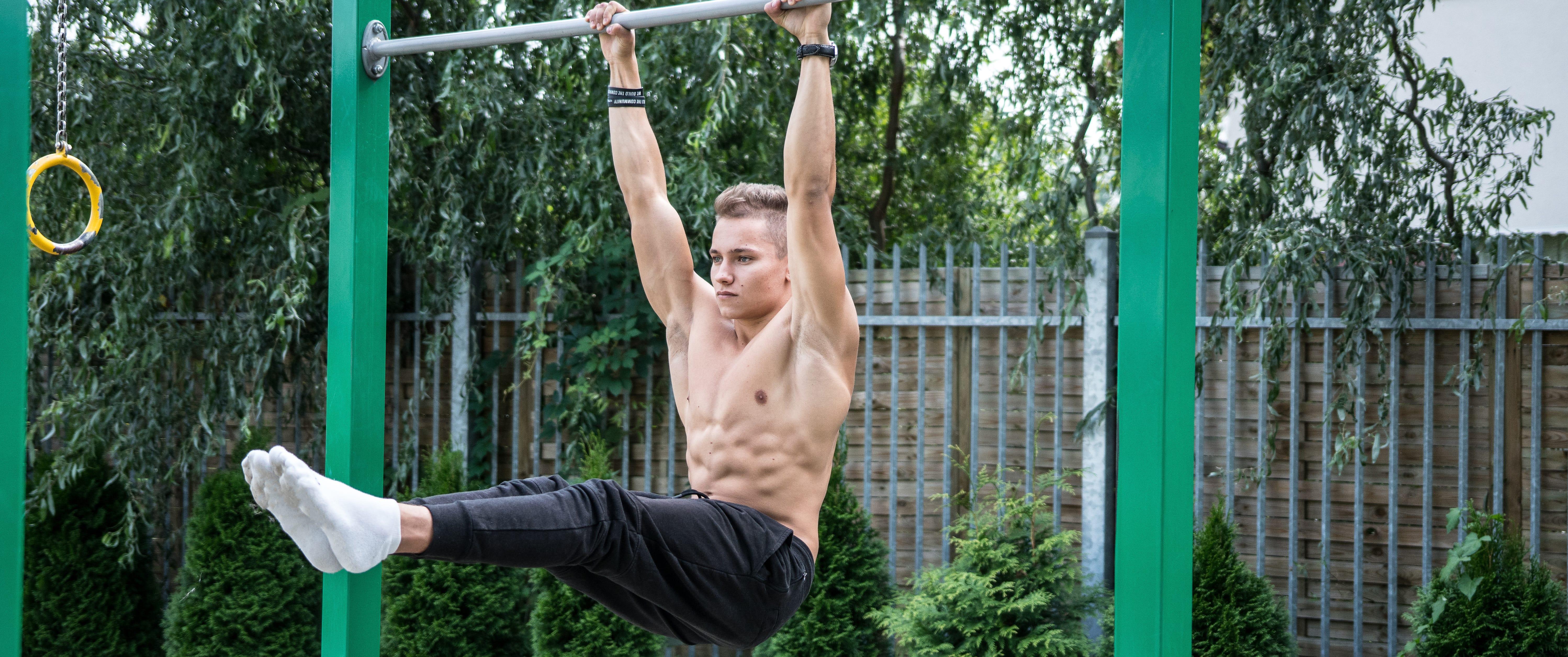 leg raises l sit calisthenics exercise